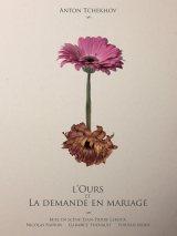 L'Ours et La Demande en Mariage de Tchekhov théâtre russe compagnie Paris-Moscou Nicolas Natkin Garance Thenault Jordan Mons Jean-Pierre Leroux