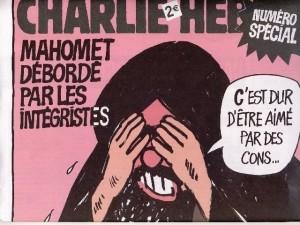 Mahomet débordé par les intégristes Charlie Hebdo