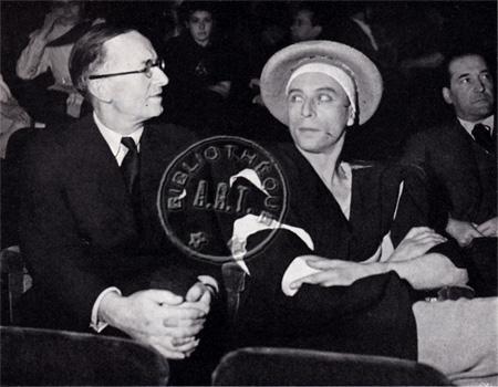 Jean Giraudoux Louis Jouvet répétition Electre 1937 Théâtre de l'Athénée