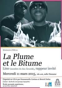 La Plume et le Bitume Ecole Normale Supérieur rappeur Lino