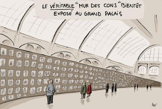 Le véritable mur des cons bientôt exposé au Grand Palais Acé