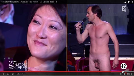 Sébastien Thiéry tout nu Molières 2015 Fleur Pellerin France 2