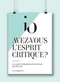 IO Gazette la gazette éphémère des festivals