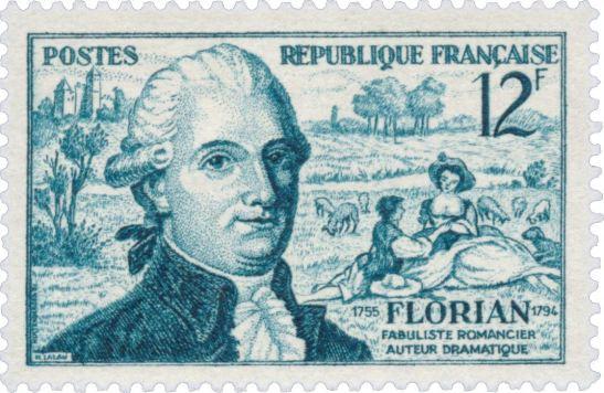 Timbre Jean-Pierre Claris de Florian