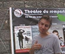 Olivier Sauton Fabrice Luchini et moi Théâtre du Rempart Festival Avignon OFF 2015