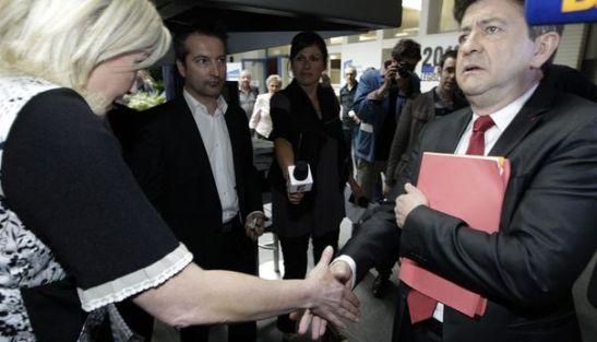 Mélenchon Marine Le Pen