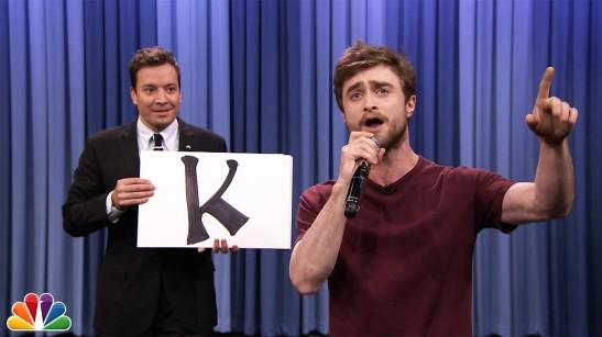 Jimmy Fallon Daniel Radcliffe Alphabet Aerobics Rap