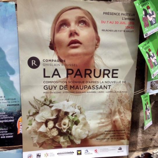 La Parure Affiche Festival d'Avignon OFF 2016