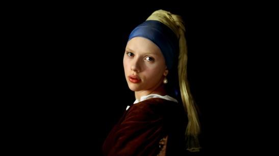 La jeune fille à la perle Scarlett Johansson