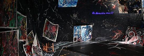 Le Monologue d'Adramélech Valère Novarina peinture Théâtre de la Bastille 1985