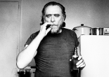 Charles Bukowski smoking drinking beer