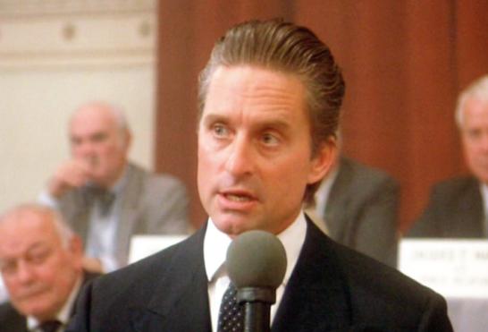 Gordon Gekko Michael Douglas Oliver Stone Wall Street film