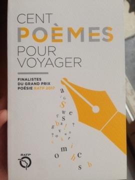 Cent Poèmes pour Voyager Grand Prix de Poésie RATP Finalistes 2017