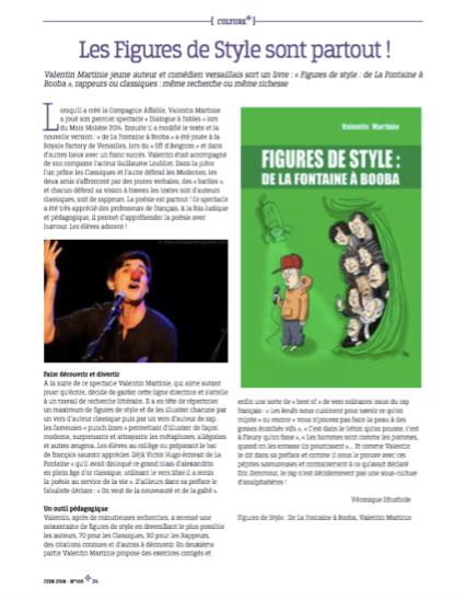 Figures de Style : de La Fontaine à Booba Magazine Versailles + Juin 2018