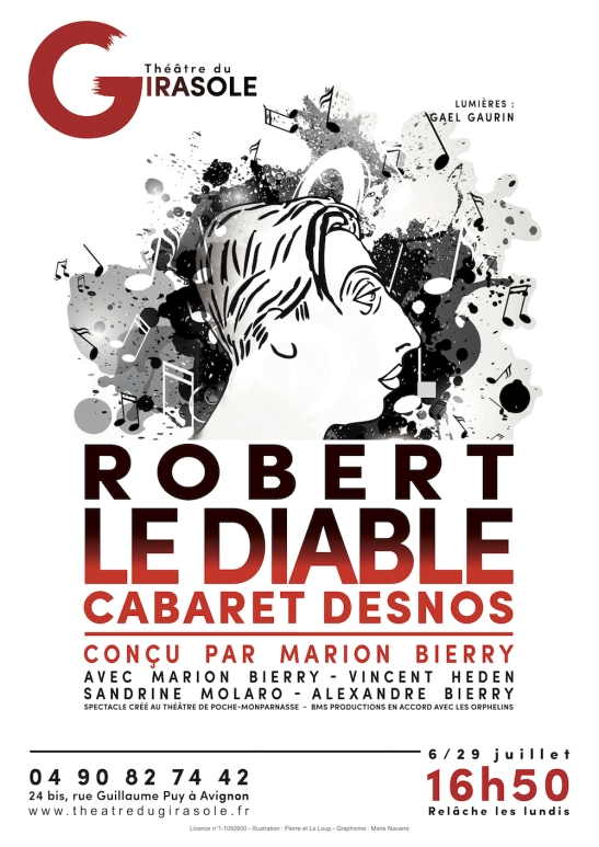 Robert le Diable affiche spectacle avignon off 2018