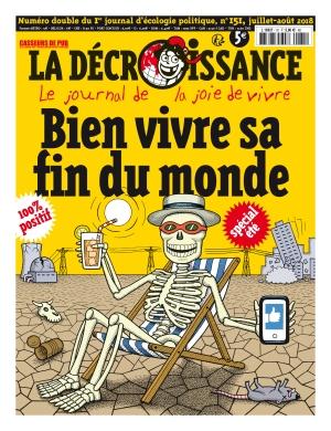 Bien vivre sa fin du monde couverture La Décroissance juin juillet 2018
