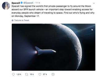 SpaceX tweet