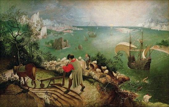 Pieter Brueghel La Chute d'Icare tableau