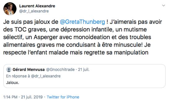 Laurent Alexandre Greta Thunberg Twitter